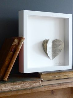 """You can make it sentimental by cutting out your favorite passage of your favorite book, or my idea, cutting out a friends wedding announcement from the news paper as a wedding gift""""  """"great idea for a wedding personalized wedding gift"""""""
