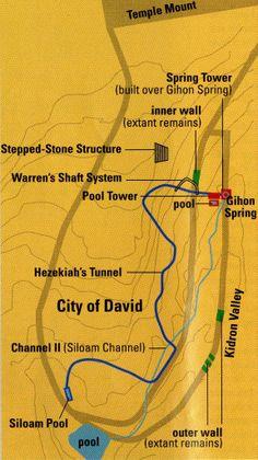 City of David Water &Walls MAP