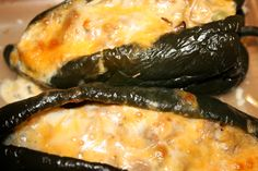 Stuffed poblano peppers (made these last night with a few changes and they came out excellent!)
