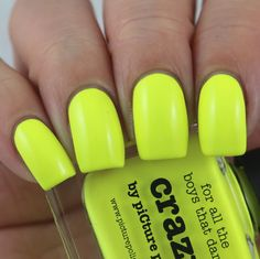 piCture pOlish Crazy swatched by Olivia Jade Nails Jade Nails, Olivia Jade, Picture Polish, Some Times, Swatch, Nail Polish, Neon, Nail Polishes, Polish