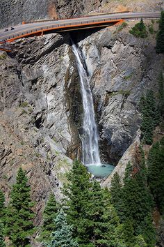 Bear creek falls. Ouray, Colorado.