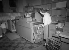 City, personnel, IBM room (1959) / The Library of Virginia [http://www.flickr.com/photos/library_of_virginia/] | #readytowork