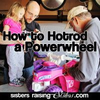 How to Hotrod a Power Wheel - super easy step-by-step tutorial on modifying a 6 volt Power Wheels to 12 volts. Anyone can do this... so easy. And you kids will love it. Adds new life to a boring old toy for about 30 bucks.