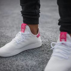 d1af0e1f8 Pharrell Williams x adidas Tennis HU Solar Pink