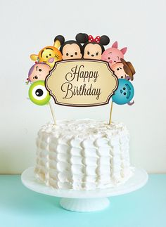 Tsum Tsum Cake Topper. Tsum Tsum Birthday Party. Party Supplies. Baby Shower. DIGITAL FILE