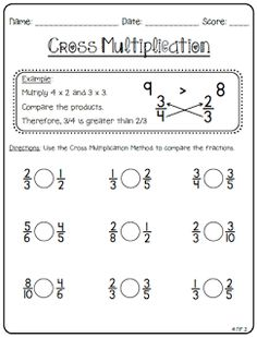 Create Teach Share - Ideas and inspiration for teachers 4th Grade Fractions, Teaching Fractions, Fractions Worksheets, Third Grade Math, School Worksheets, Teaching Math, Comparing Fractions, Multiplying Fractions, Equivalent Fractions