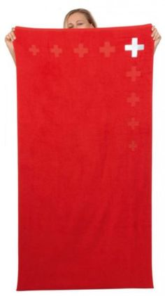 Badetuch Schweizerkreuz / Bath towel Swiss cross Top size, nice colour and qualitatively high grade