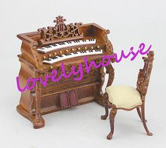 1/12 dollhouse  miniature furniture well made hand carving classical piano new