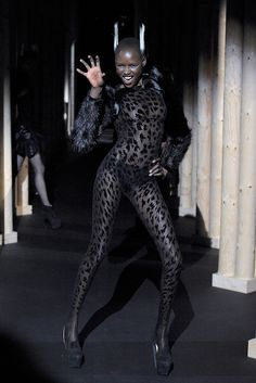 Mugler Fall 2011 Ready-to-Wear Fashion Show - Ajak Deng