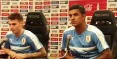 Diego Polenta y Guillermo Varela felices por su llamado a la selección. March 23, 2016.