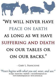 I truly do believe this. Go Vegan