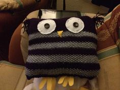 Wol, our happy knitted owl protector