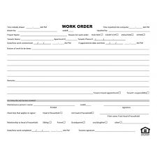 free printable work order forms google search