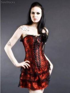 Pretty black and red lace corset Lace Corset, Pretty Black, Red Lace, Formal Dresses, Sexy, How To Wear, Fashion, Feminine, Women