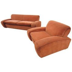 "Art Deco Paul Frankl Speed"" Lounge Chair and Sofa Set, circa 1939 