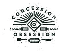 Dribbble - Co Logo by Justin Crutchley concession - obsession Typography Logo, Logo Branding, Branding Design, Ci Design, Branding Iron, Brand Identity, Typography Layout, Lettering Design, Badges