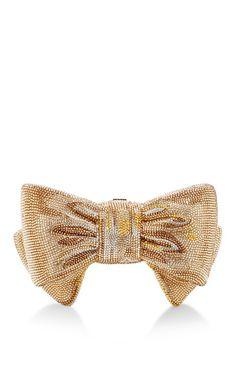 Judith Leiber Gold Bow Just For You Clutch by Judith Leiber for Preorder on Moda Operandi