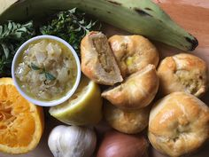 Cuban Knishes- - When I think of knishes, like most people, I think of New York Jewish deli-style discs of creamy potato or savory meat, enveloped by a flaky crust. Po ...