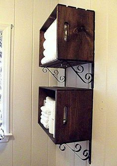 Easy idea for organizing towels!