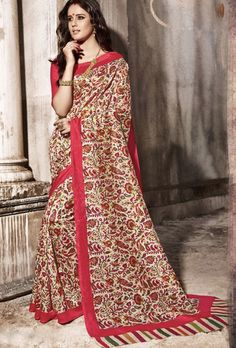 Red Designer Saree - Desi Royale