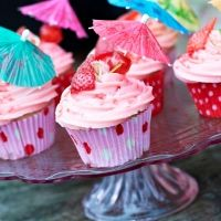 Rachel Green's Strawberry Daiquiri Cupcakes created especially for Mr Hugh's!
