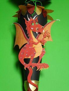Schultüten - Schultüte Drache 70 cm - ein Designerstück von Kopf-Art bei DaWanda