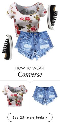 """""""Untitled #493"""" by deima-835 on Polyvore featuring Converse, women's clothing, women, female, woman, misses and juniors"""