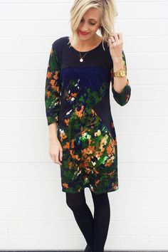winter floral dress