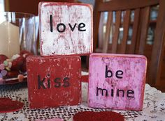 ~Ohio Thoughts~: Valentine's Day Craft Blocks