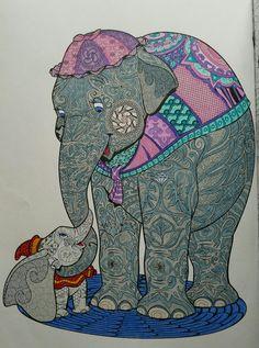 Art of Coloring Disney Animals Jumbo & Dumbo