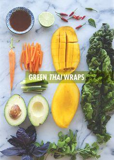 healthy green Thai wraps