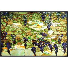 "48 Inch W X 32 Inch H Tiffany Wisteria & Snowball Stained Glass Window. 48 Inch W X 32 Inch H Tiffany Wisteria & Snowball Stained Glass Window Theme:  VICTORIAN TIFFANY Product Family:  Tiffany Wisteria & Snowball Product Type:  WINDOWS Product Application:   Color:  BAPA LT BLUE PURPLE/BLUE Bulb Type:  Bulb Quantity:   Bulb Wattage:   Product Dimensions:  32""H x 48""WPackage Dimensions:  48.000L x 40.000W x 57.000HBoxed Weight:   lbsDim Weight:  NAOversized Shipping Reference…"