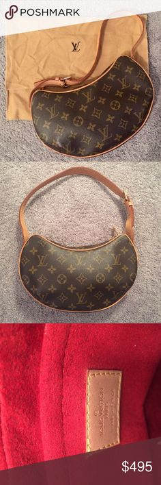 💯Authentic Louis Vuitton Croissant Bag Authentic LV Croissant bag only used a few times. Like new condition with original dust bag. Louis Vuitton Bags Shoulder Bags
