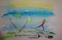 Nordic Valentine from Chique Lixo - a little Idaho greeting card company