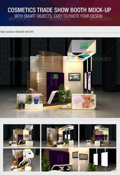 GraphicRiver Cosmetics Exhibition Booth Mock-Up » Free Special GFX Posts Vectors AEP Projects PSD Web Templates