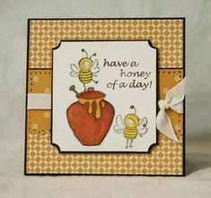 Stampin' Up! Just Buzzin' By handmade bees card