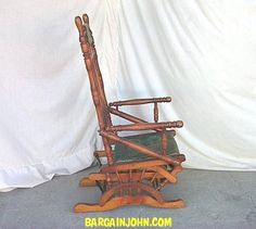 Antique Glider Rocker Chairs | ...  1915) U003e Victorian Antique Wooden Glider