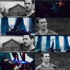 Guess we've seen Steve's dark side now - in a bullying fight. I have to say I lost respect for Cap in that fight, although it was right for him to throw down the shield: he knew he had wronged the whole ideal of Captain America.
