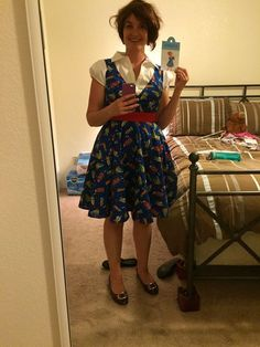 kristen in mrs frizzle costume that i made september