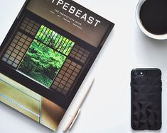 Morning Reading Design Flatlay - HYPEBEAST Magazine with Coffee and iPhone 7