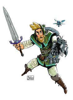 The legend of Zelda character redesign of Link on Behance
