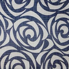 Papel de parede floral rosas estilizadas em cores bege e azul 039