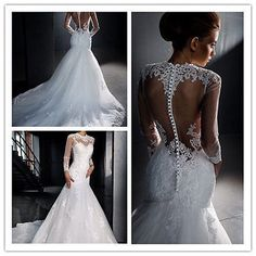 db6c4b251ff New Lace White Ivory Wedding Dress Bridal Gown Size 6 8 10 12 14 16 18+++