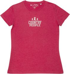 Country People Women's Red T-Shirts