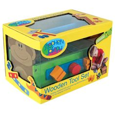 Stephen Joseph Zoo Wooden Tool Box Set