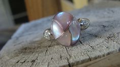 14KT White Gold Custom Made Pink Mother of Pearl by JewelsbyLubeck, $629.00