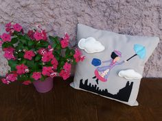 #marypoppins #pillow #baptismdecor Mary Poppins, Pillows, Decor, Decoration, Cushions, Decorating, Pillow Forms, Cushion, Scatter Cushions