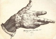 Right hand by Hendrick Goltzius, 1588.