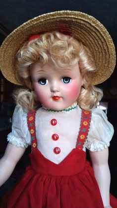 Vintage Hard Plastic PRE Toni Girl Doll with Mohair Wig & Box Never Played P-93 #Ideal #DollswithClothingAccessories