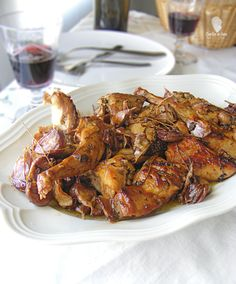 Receta de conejo al ajillo. Cocina tradicional